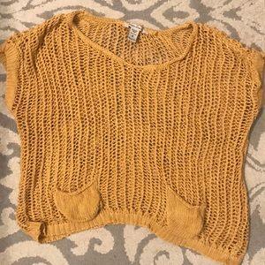 Yellow crochet top!